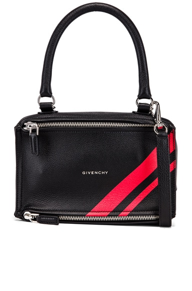 Red Stripe Small Pandora Bag