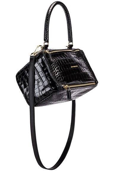 Small Pandora Croc Embossed Bag