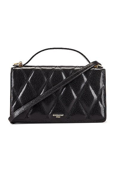 GV3 Quilted Leather Strap Wallet Bag