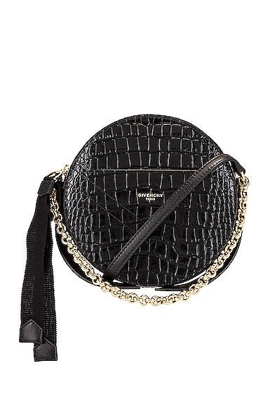 Eden Embossed Croc Round Shoulder Bag
