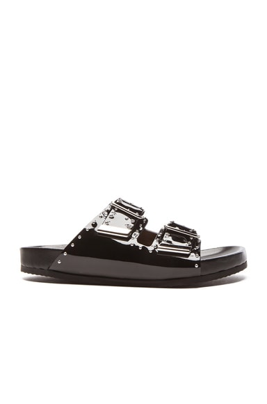 Swiss Studs Patent Leather Sandals