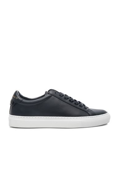 Knots Leather Low Sneakers in Black