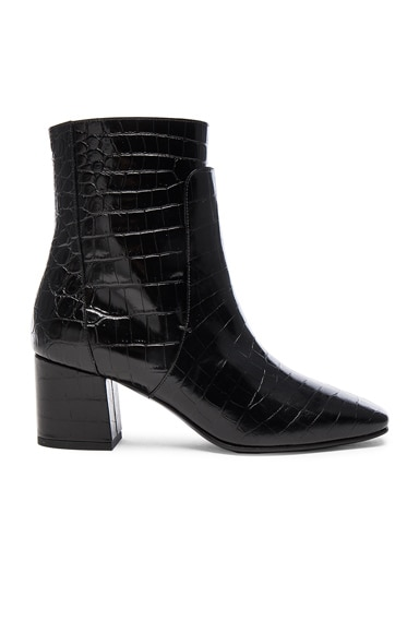 Paris Croc Embossed Ankle Boots