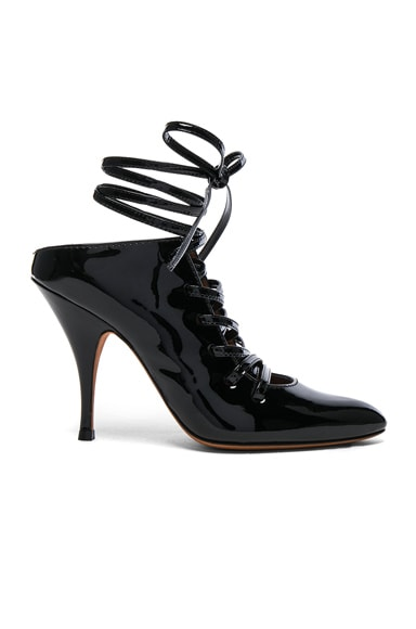 Patent Leather Lace Up Heels