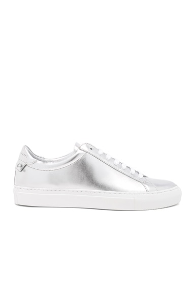Metallic Leather Urban Tie Knot Sneakers