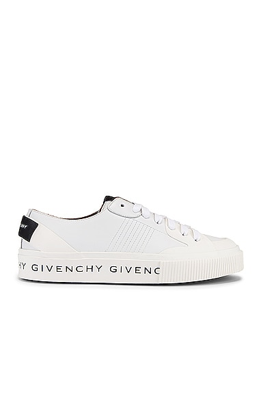 Givenchy Logo Lettering Leather Low-top Sneakers In White