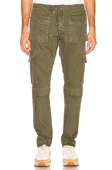 Denim Long Cargo Pant