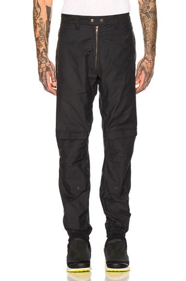 Cargo Exposed Zipper Trousers