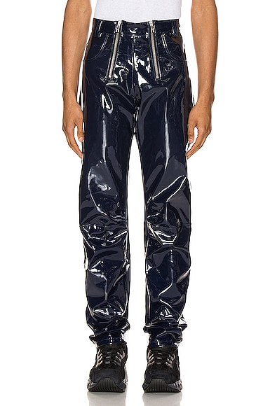 High Waisted Vinyl Trousers