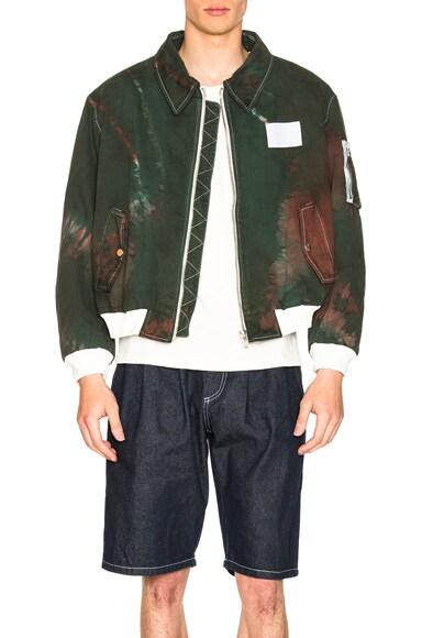 Tie Dye Bomber Jacket
