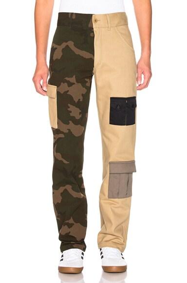 Bicolor Camo Cargo Pant