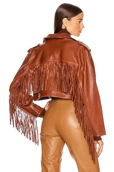 Sadie Leather Fringe Jacket