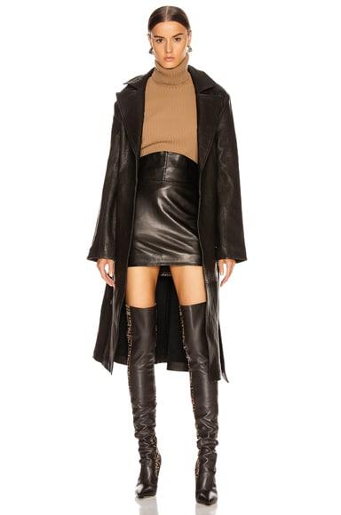 Lori Leather Trench Coat