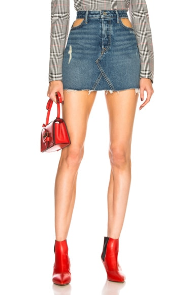 Eva Cut Out Denim Skirt
