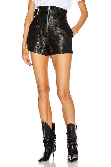 Sandy Leather Shorts