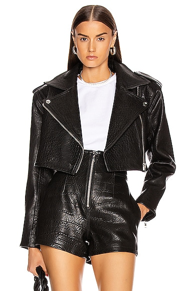 Samara Leather Cropped Jacket