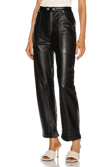 Grlfrnd PAOLO LEATHER PANTS