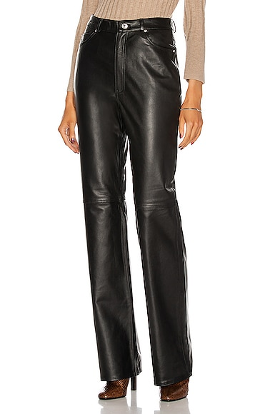 Grlfrnd MILA LEATHER BOOT CUT PANT