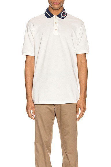 Cotton Polo With Interlocking G Torchon