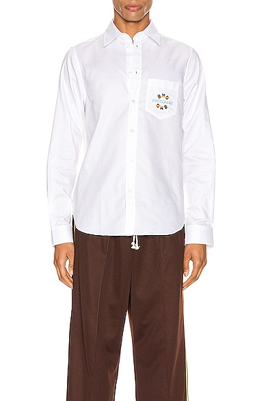 Gucci Band Embroidered Cotton Shirt