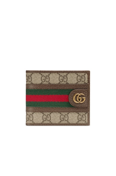 Ophidia GG Wallet  In Beige Ebony & Green & Red