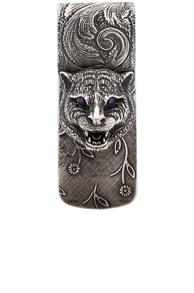 Feline Head Money Clip