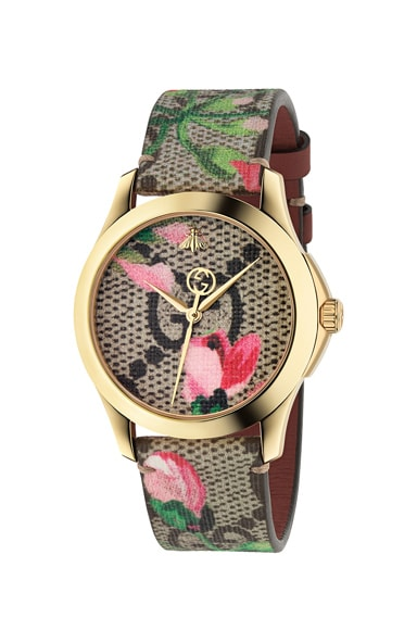 38MM G-Timeless Floral Print Watch