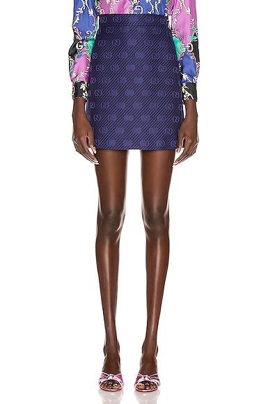 GG Diagonal Mini Skirt