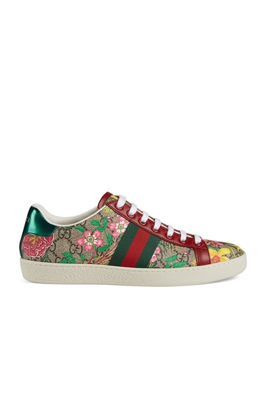 New Ace GG Floral Sneakers