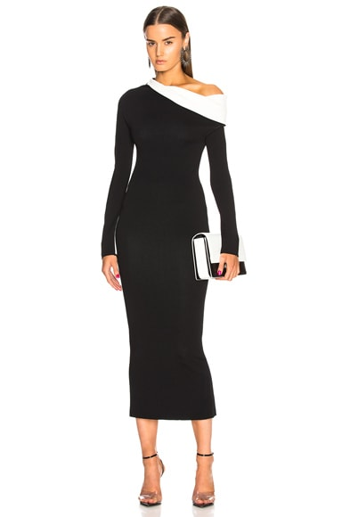 Drape Knit Dress