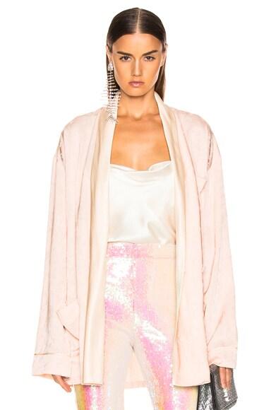 Floral Embroidery Soft Blazer