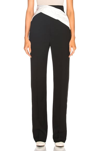 Draped Detail Trouser Pant