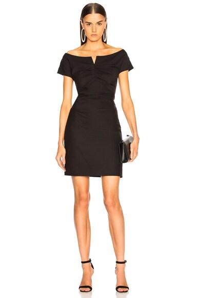 Off Shoulder Wool Dress