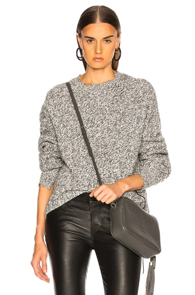 Distressed Relaxed Long Sleeve Crew