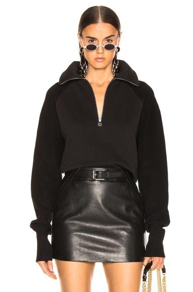 Combo Zip Sweatshirt