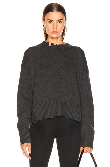 Distressed Crew Sweater