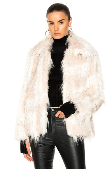 Shawl Collar Faux Fur Jacket