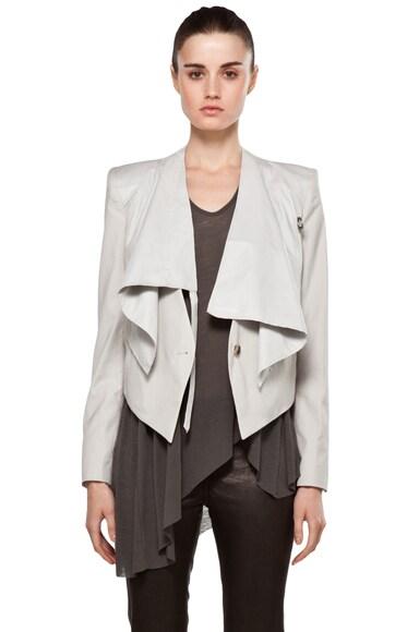 Linen Viscose Leather Jacket