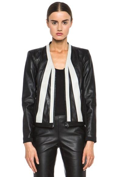 Evolution Paneled Leather Jacket