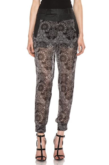 Printed Cropped Viscose Pant