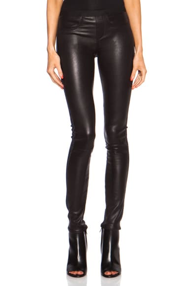 Five Pocket Leather Combo Pant