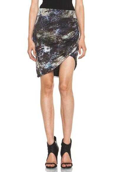 Oxide Print Star Twist Skirt