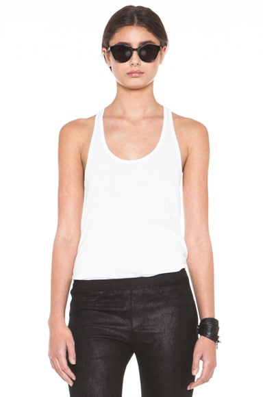 HELMUT Feather Jersey Racerback Tank