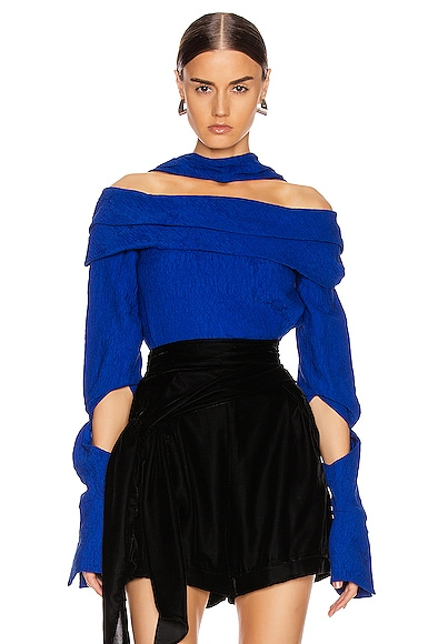 Hellessy HELLESSY BIANCA TOP IN BLUE
