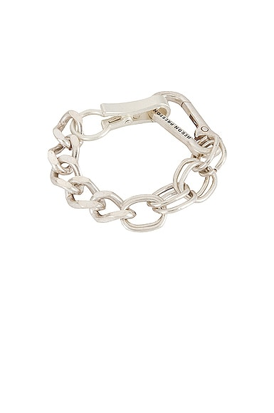 Heron Preston Multichain Bracelet In Silver