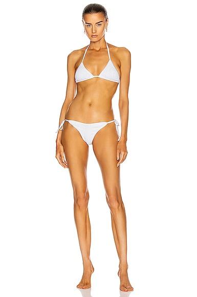 Hunza G Carmen Bikini In Solid White