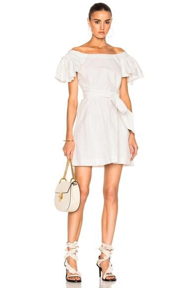 Frou Frou Sleeves Short Dress