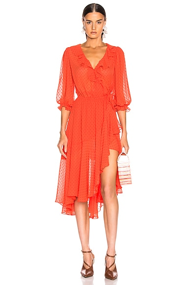 3/4 Sleeve Cha Cha Wrap Dress