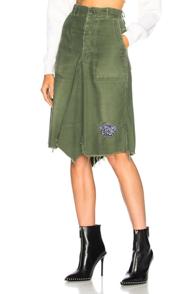Patched Bandana Skirt