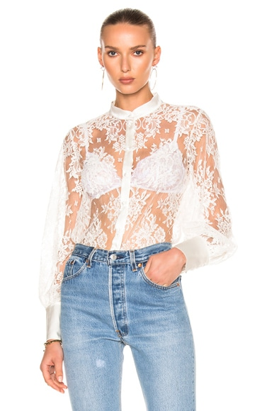 Lace Shirt Bodysuit